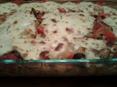 Cauliflower Pizzagna, a grain free version of Rachel Ray's Pizzagna
