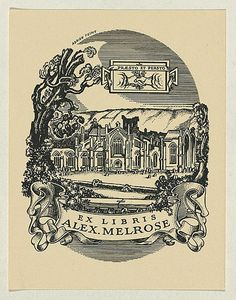 Adrian FEINT,  Bookplate for Alex Melrose.  (1938)  Copyright: Courtesy the Estate of Adrian Feint