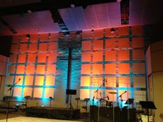 Church stage design - precision grid