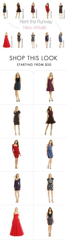 """""""Rent the Runway New ARRIVALS!"""" by renttherunway ❤ liked on Polyvore featuring mode, YOANA BARASCHI, Rebecca Taylor, Nicole Miller, Lilly Pulitzer, Nanette Lepore, Ali Ro et ML Monique Lhuillier"""