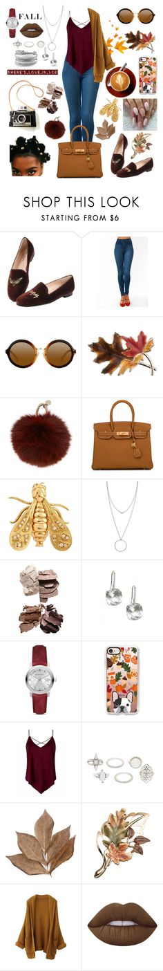 """""""FALL🍁🍂🍁🍂"""" by raven-so-cute ❤ liked on Polyvore featuring Jon Josef, Anne Klein, Yves Salomon, Hermès, Chaumet, Botkier, Burberry, Casetify, Charlotte Russe and Bliss Studio"""