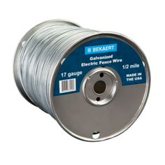 Bekaert 17 Gauge Galvanized Electric Fence Wire, 1/2 Mile Spool - Tractor Supply Co.