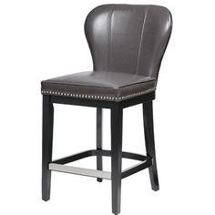 Darby Home Co Zhora Bar & Counter Stool Color: Gray/Black, Seat Height: Counter Stool Seat Height) 26 Bar Stools, Counter Stools, Bar Counter, Furniture Styles, Dining Furniture, Kick Plate, Kitchen Chairs, Bars For Home, Foot Rest