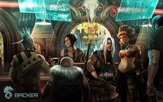 cyberpunk bar                                                       …