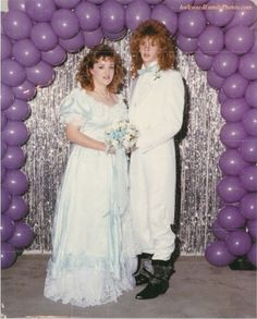 80s wedding - which is the bride? Right, the one in the dress :o)