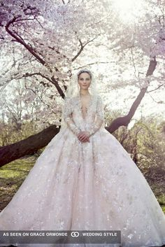 ysa makino spring 2016 couture wedding dress with sleeves