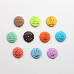 25mm Pin Button Badge Mathematics Maths Geeks Nerds Numbers Pythagoras 1 Inch