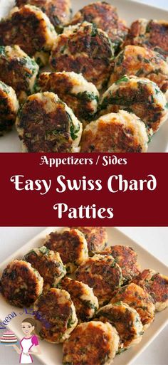 Weather you call these Swiss Chard patties or Swiss Chard Cakes these make amazing appetizers or sides. They are so versatile they can be served with any meal from breakfast to dinner. You can serve them on their own as a snack or sandwich filling too. Rainbow Chard Recipes, Swiss Chard Recipes, Vegetable Recipes, Vegetarian Recipes, Healthy Recipes, Recipe With Swiss Chard, Cooking Swiss Chard, Vegetarian Appetizers, Best Appetizers