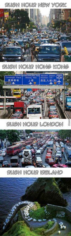 Rush Hour in Ireland Irish Memes