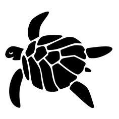 Happy Sea Turtle Die-Cut Decal Car Window Wall Bumper Phone Laptop