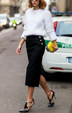 How to Wear a Midi Skirt in the Spring, Like a Street Style Star - Up the Texture  - from InStyle.com