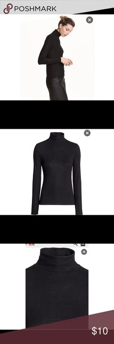 New NWT H&M Black Ribbed Turtleneck Top New with tags. Great quality. H&M Tops