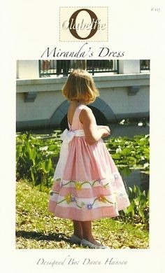 Miranda's dress pattern for girls by Olabelhe.  Available at www.chadwickheirlooms.com
