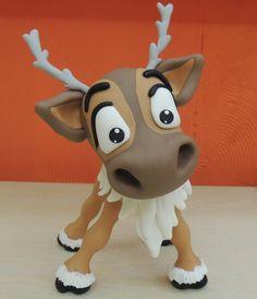 Sven feito em porcelana fria(biscuit) inspirado no trabalho de Kara's Party )