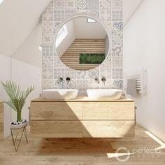 Elegantní koupelna DUO ATTICO - Pohled na umyvadla