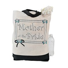 """Mother Of The Bride"" Tote Bag - OrientalTrading.com"