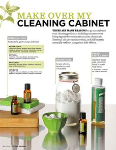 Cleaning with oils, doTERRA LIVING Magazine Spring 2012