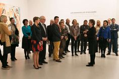 """La Cour Ducal Luxembourg: Grande-Duchesse héréditaire Princesse Stéphanie a visité l'exposition """"Picasso.M"""
