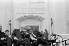 Ike shares valuable council with LBJ.