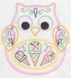 Ohli the Owl with Ice Cream (Vintage)
