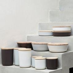 Ceramic and Oak Boxes via Iza Gortych