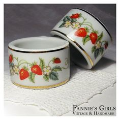 Vintage Avon Strawberry napkin rings Avon by FanniesGirlsVintage