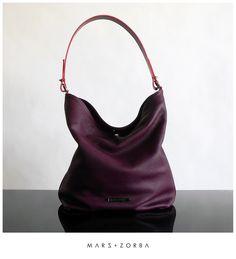Mars+Zorba Olympia Plum Hobo #calfskin #leather #handbags #design #buenosaires #carteras #cuero #moda #fashion #stylish #cuero #designer