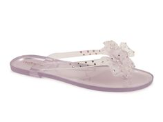 Menghi thong slippers sandals in transparent rubber Swarovski - Italian Boutique €56