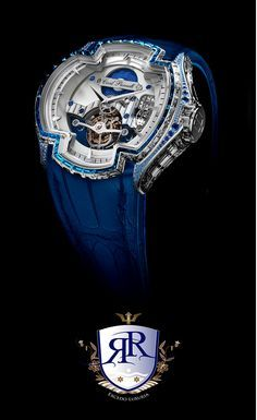 La Croix in White Gold with Sapphires & Diamonds - Exclusively Available from Excedo Luxuria