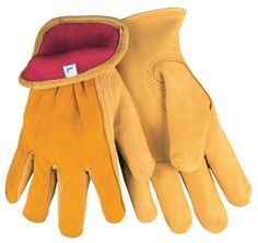 Red Fleece Lined Deer Skin Work Glove  PRODUCT DESCRIPTION: Deerskin is naturally soft and has exceptional durability! Offers all day comfort with less hand fatigue. The 3555 series features; regular grade deer skin, split deerskin back, red fleece lining, shirred elastic back, rolled leather hem, and keystone thumb pattern.    Model #: 3555S, 3555M, 3555L, 3555XL