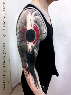+++ realistic trash polka +++tattoo by +++ SimOne Pfaff +++ Buena Vista Tattoo Club -