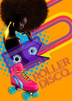 Retro poster for Roller party... done in Corel Painter and Photoshop...