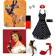 """Pin-up model Halloween costume"" by silvershuriken on Polyvore"