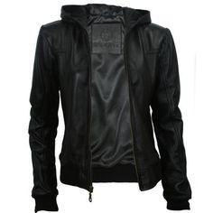 womens-black-leather-hooded-bomber-jacket Hooded Bomber Jacket, Bomber dd04ee61a0