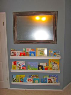Love this DIY bookshelf for the baby room!