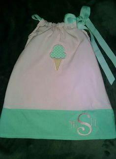 Sno ball dress with monogram