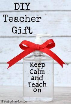 """DIY Simple Teacher Gift - Keep Calm And Teach On-- cute idea!! Or for nurses """"keep calm and nurse on"""""""