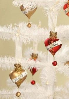 Bethany Lowe Valentine – Be Mine Heart Ornament, Set