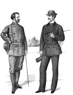Sporting wear for gentlemen, 'Gazette of Fashion, and Cutting-room Companion', 1870.