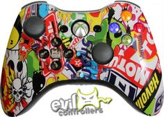 The Custom Controller Creator allows you to create the custom Xbox One & controllers of your dreams. Modify the exterior options to match your favorite sports team, your favorite video game character or your personal style. Custom Xbox One Controller, Ps4 Or Xbox One, Xbox Controller, Ps3, Control Xbox, Video Games List, Xbox Console, Sticker Bomb, Club Design