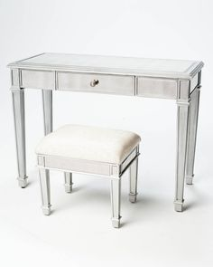 Garbo Mirrored Table with Seat