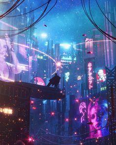 No Turning Back on Behance Arte Cyberpunk, Cyberpunk Aesthetic, Cyberpunk City, Futuristic City, Neon Aesthetic, Night Aesthetic, Blade Runner, Chihiro Y Haku, Sci Fi City