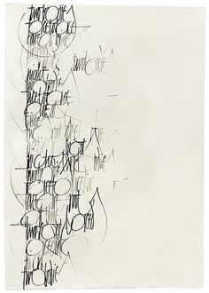 calligraphy by Francesca Biasetton; Two bodies face to face, Are at times two roots, Laced into night