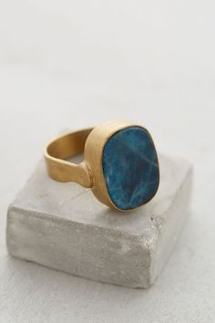 Blue Apatite Ring by Roost