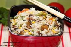 Невероятно вкусный рис с овощами и грибами, как приготовить очень вкусный рис