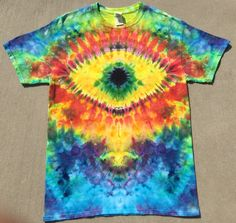 c6ff7184eb77 Tie dye Psychedelic Eyeball t shirt adult Medium trippy Southern Iced Tee  Rainbow Trance Rave Festival Wear by SouthernIcedTees on Etsy