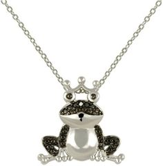 Black Diamond Frog Prince Necklace For Only $5.99!  #Beauty #Fashion #Deals