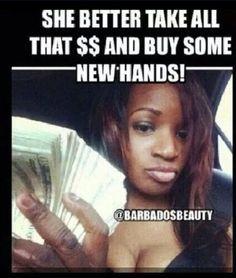 Hahahaha buy some new hands