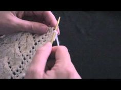 FREE MUFF - Part 2 How to create the lace stitch featured on this free knitting project. - YouTube