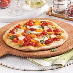 Pizza margarita aux tomates confites - Recettes - Cuisine et nutrition - Pratico Pratique